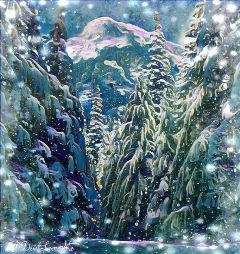 edited winterwonderland snow magiceffect