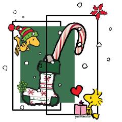 freetoedit candycane stocking christmas peanuts