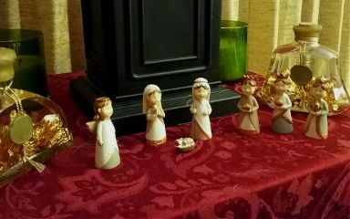 colorful christmas nativity nativityscene photo