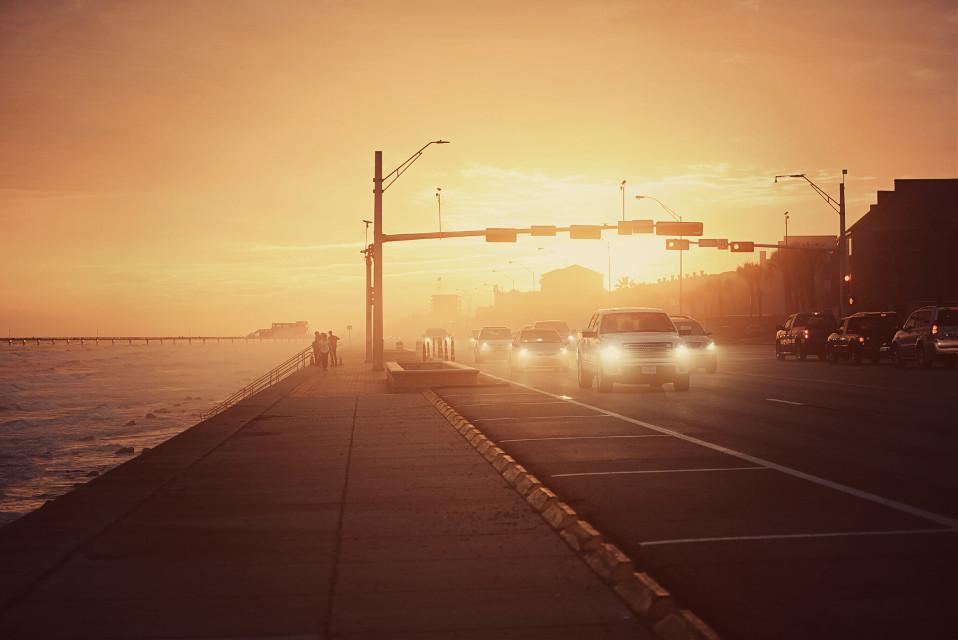 Galveston seawall drive.   #FreeToEdit