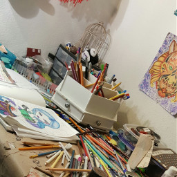 art messyart artlifestyle messy coloredpencils