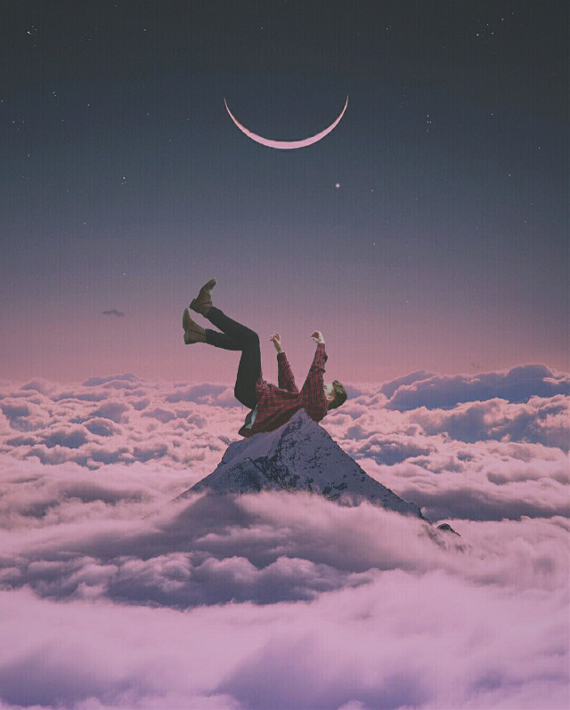 My edit. Follow in my instagram @freax1997  #madewithpicsart #surreal #clouds #mountains #hd