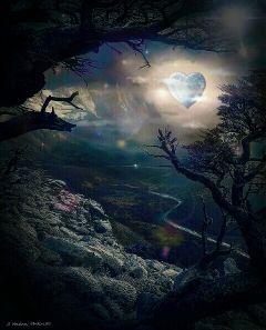 love lovelymoon moon moonlight heart