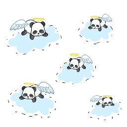 pandacloudremix freetoedit pandas panda clouds