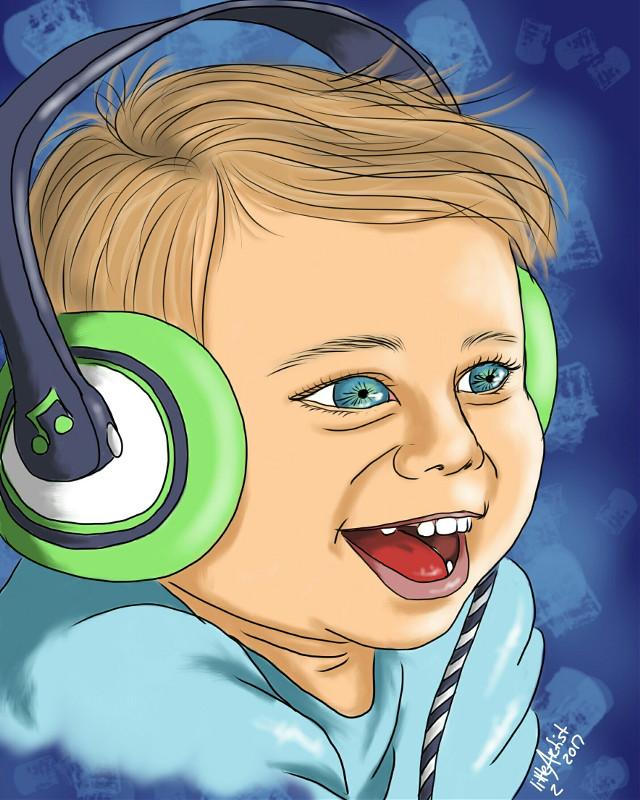 😁🖌 #drawing  #digitalart  #autodesksketchbook  #music  #child  #cute  #art  #artistic