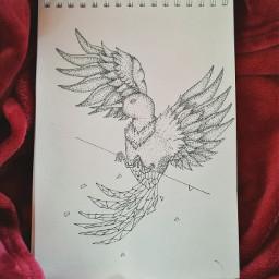 freetoedit dotwork pointillism pointillismdrawing bird