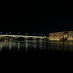 toulouse france river bridge night freetoedit