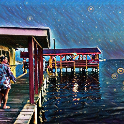 freetoedit boatdock moonlight blue midnighteffect