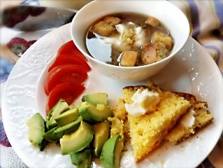 freetoedit lifestyle foodlover homemadesoup cornbread