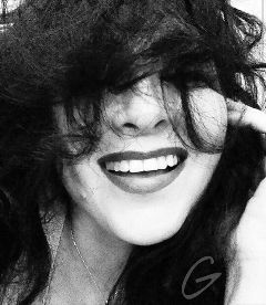 freetoedit smile woman blackandwhite