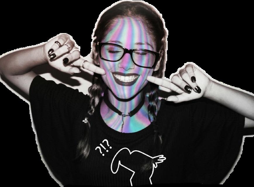 #holo #holographic #girl #tumblr