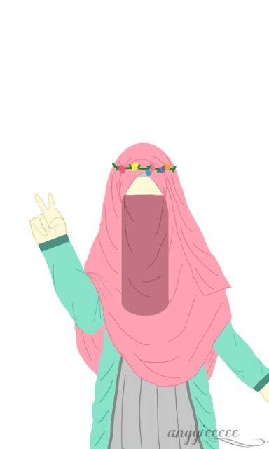 5300 Koleksi Gambar Kartun Muslimah Pink Terbaru