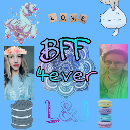 cute colorful bff4ever freetoedit